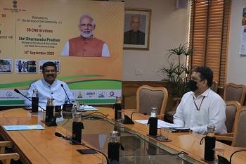 Dharmendra Pradhan dedicates 56 CNG stations to the nation