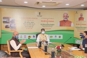 Pradhan lays foundation stone for 50 LNG fueling stations
